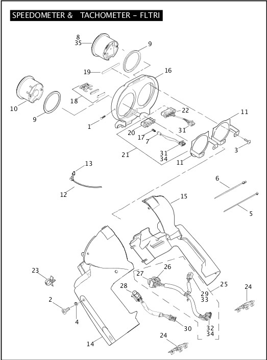 wiring diagram 1999 softail speedometer