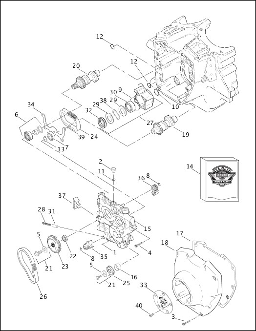 1340 evo engine diagram