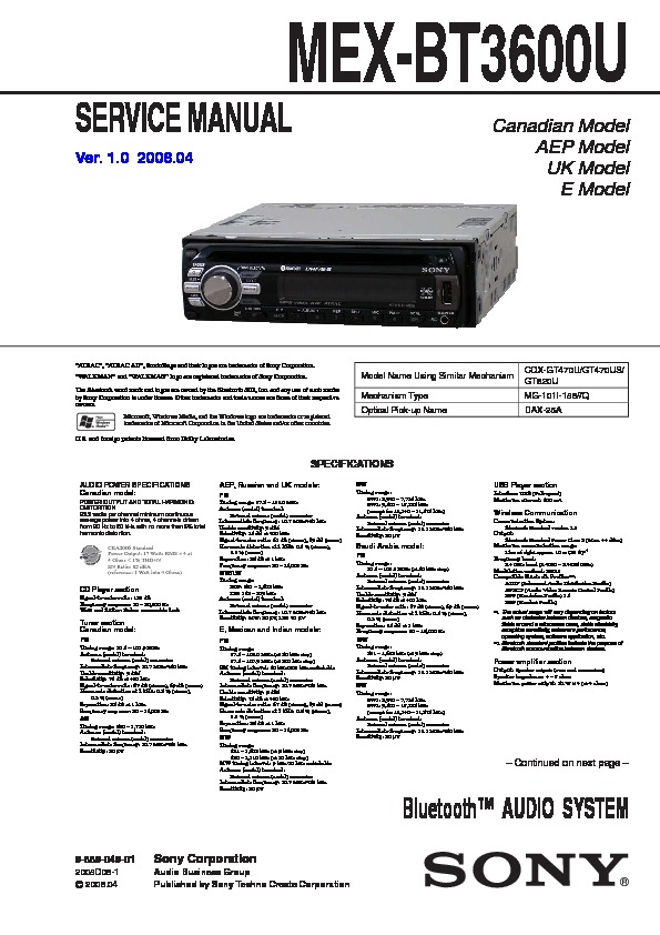 Sony Mex Bt3100p Wiring Diagram Index listing of wiring diagrams