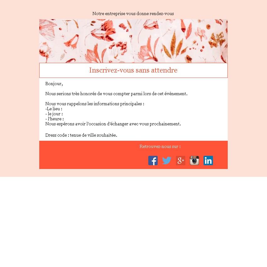 Emailing d\u0027invitation