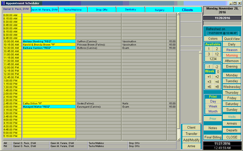 Manage Your Veterinary Practice With QuickVet - Appointment - appointment scheduling sheets