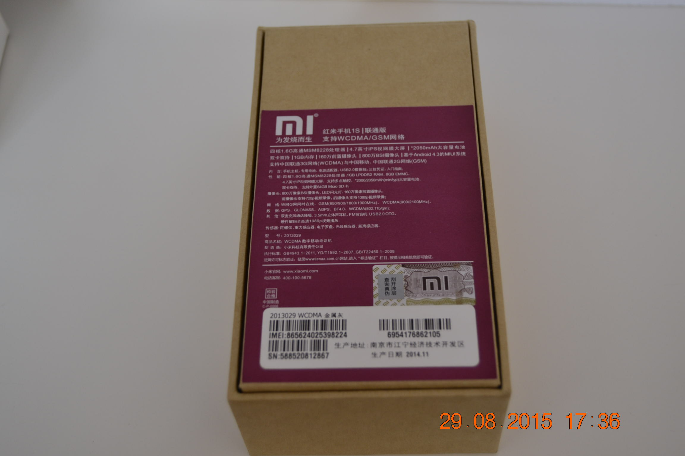 Moviles Libres Xiaomi Telefono Movil Original Xiaomi 1s Red Rice Negro Libre