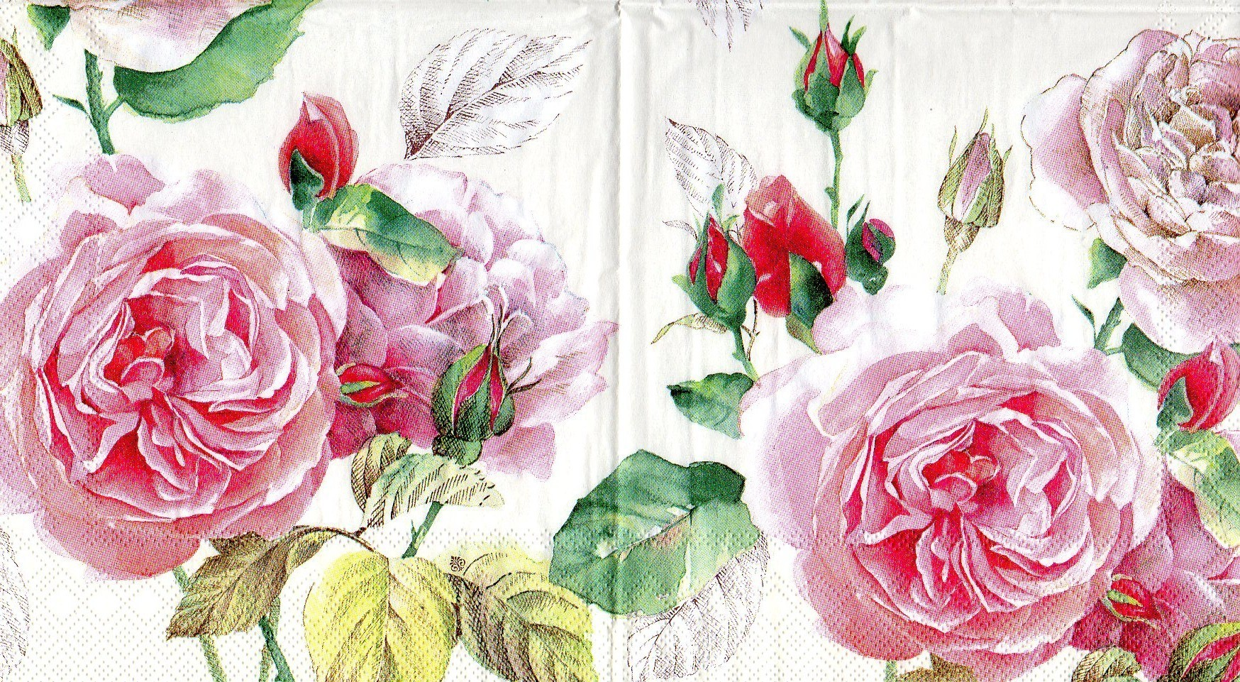Rosa Servietten Serviette Tea Rose White Serviettenrausch