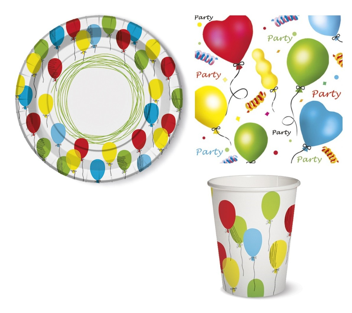 Party Tischdeko Tischdeko Set Party Ballons Teller Becher Servietten