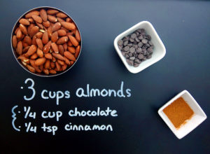 chocolate almond butter recipe ingredients