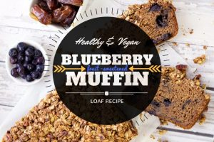 Healthy & Vegan blueberry muffin loaf recipe from servingrealness.com