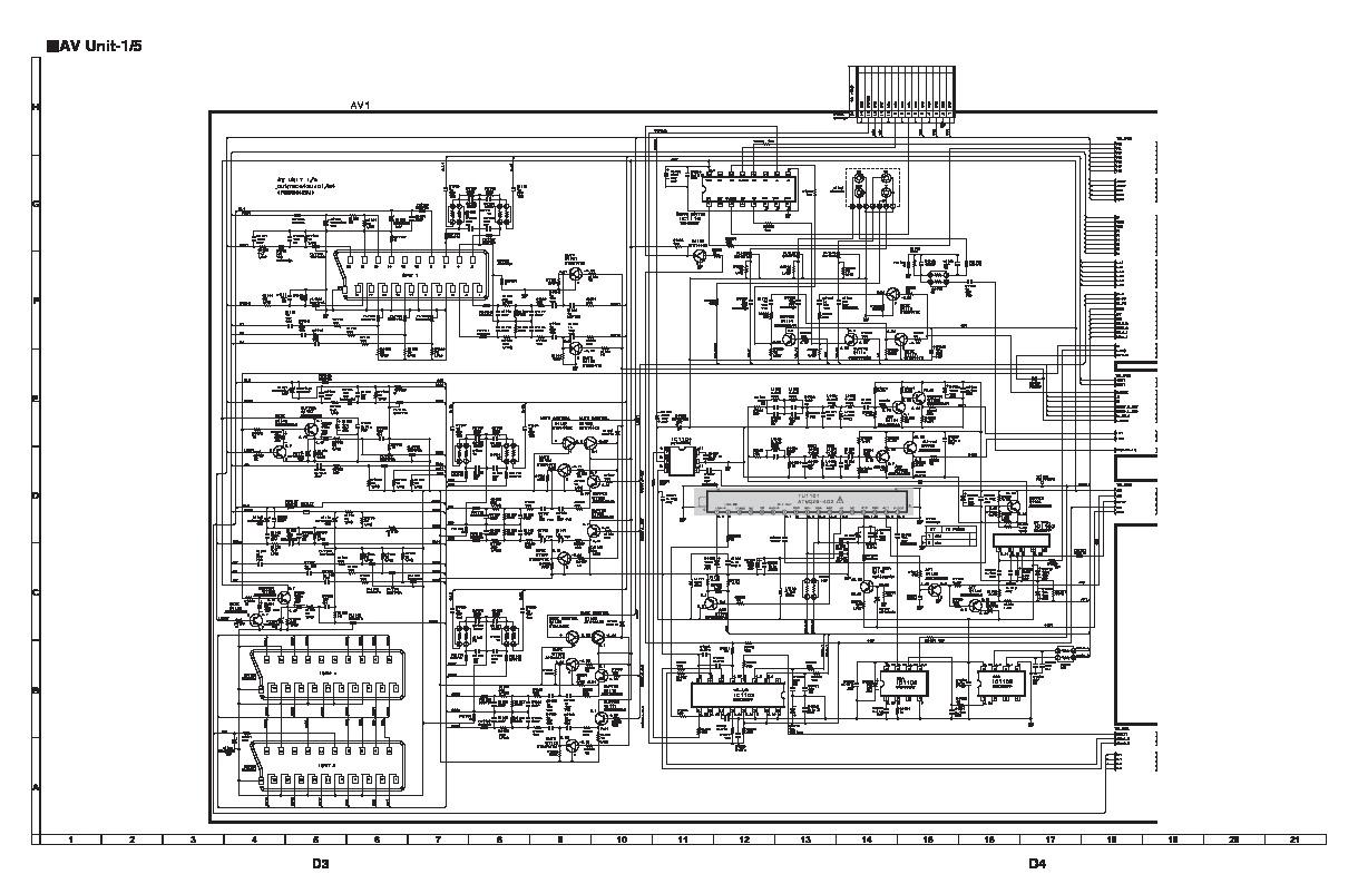 sharp diagram tv