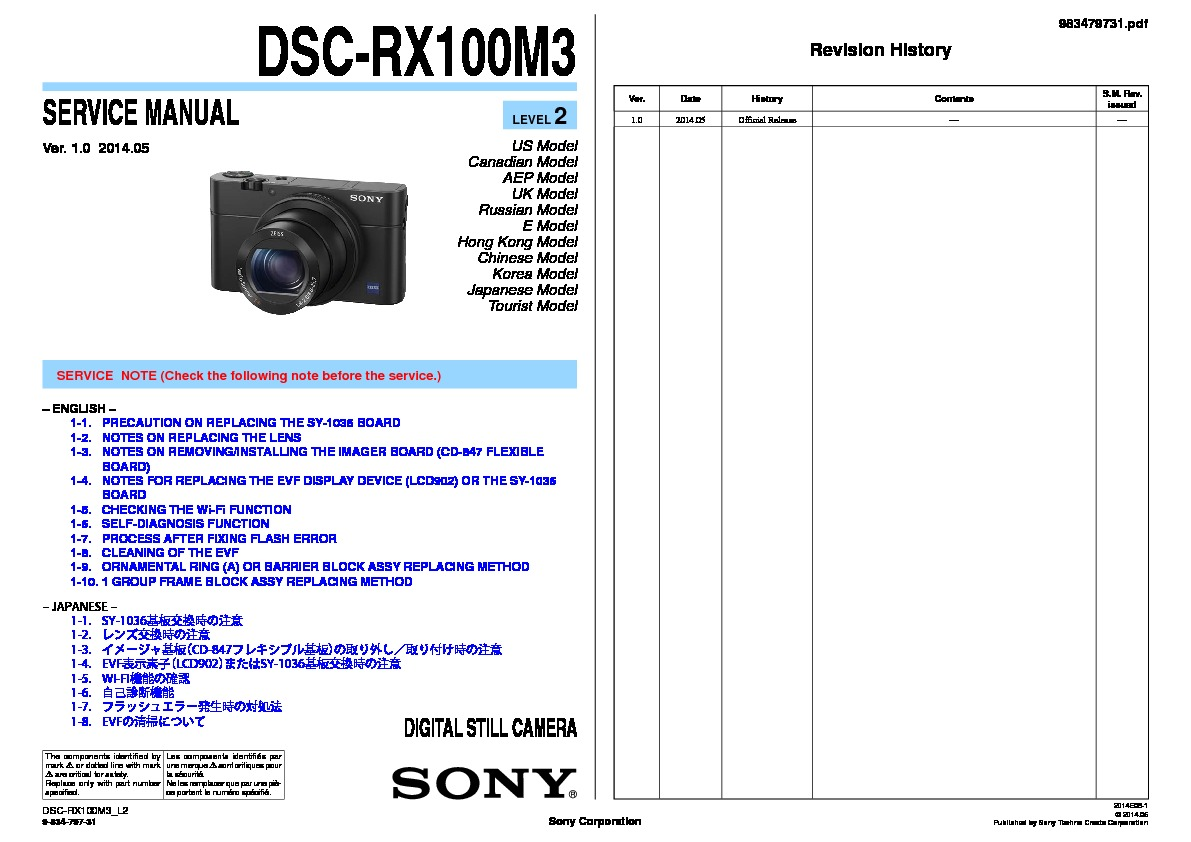 sony rx100 manual online