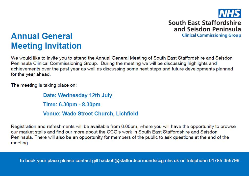 Annual General Meeting Invitation South East