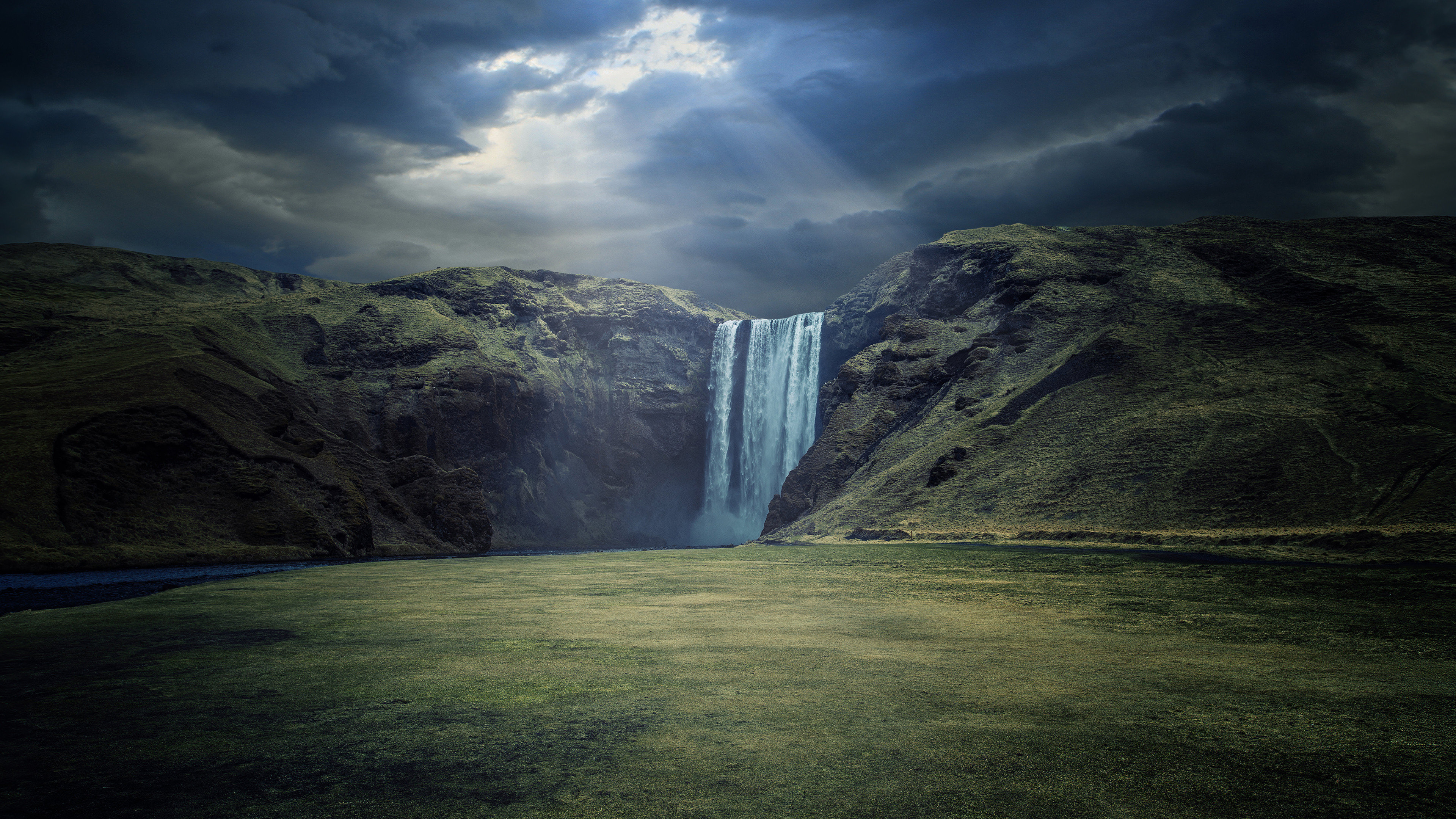 3d Wallpaper Download For Windows 10 Waterfall Landscape 4k Ultra Hd Wallpaper 3840x2160