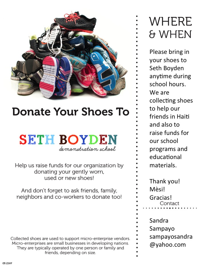 Please Pitch In to Make Our Shoe Drive a Success! \u2013 Seth Boyden