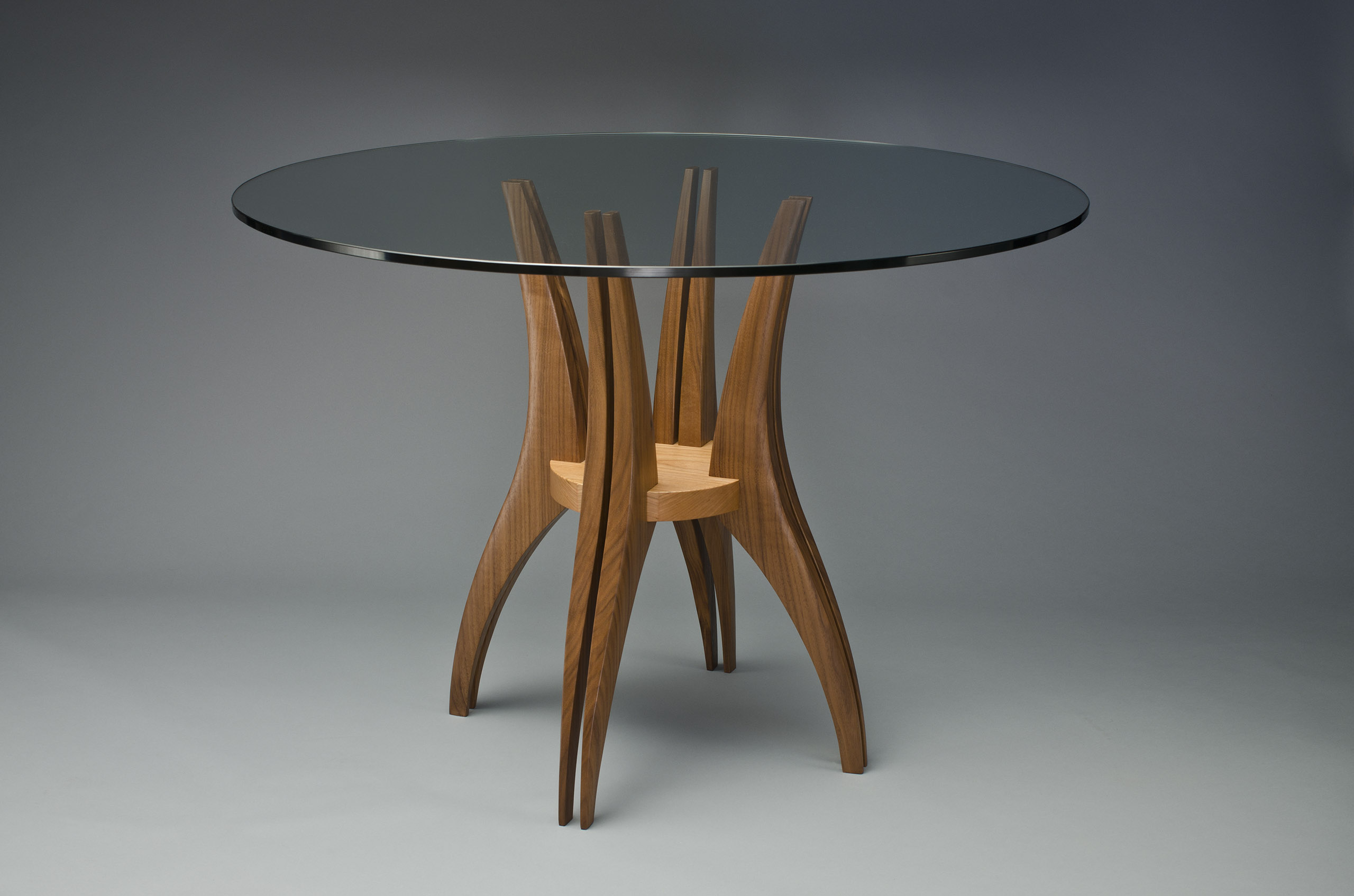 Cafe Tables Gazelle Cafe Table Hardwood And Glass Dining Room Table