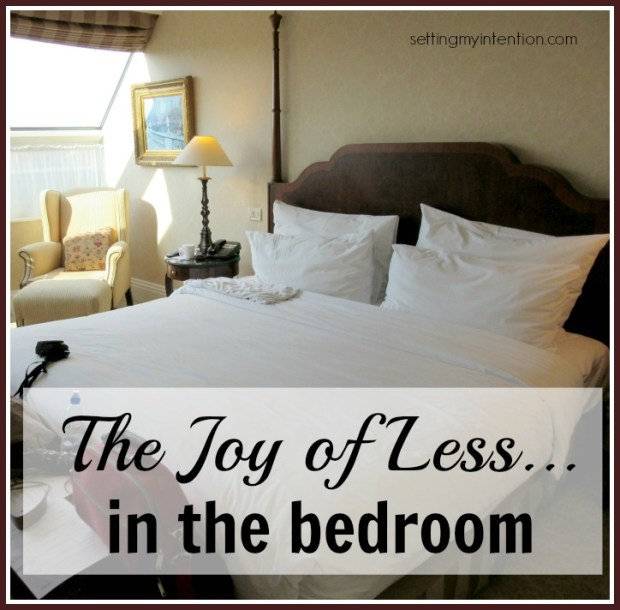 the joy of less in the bedroom