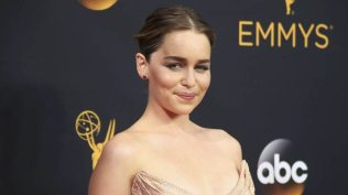 """Actress Emilia Clarke from the HBO series """"Game of Thrones"""" arrives at the 68th Primetime Emmy Awards in Los Angeles, California U.S., September 18, 2016. REUTERS/Lucy Nicholson"""