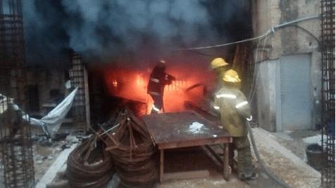 Incendio en palacio municipal de Minatitlán