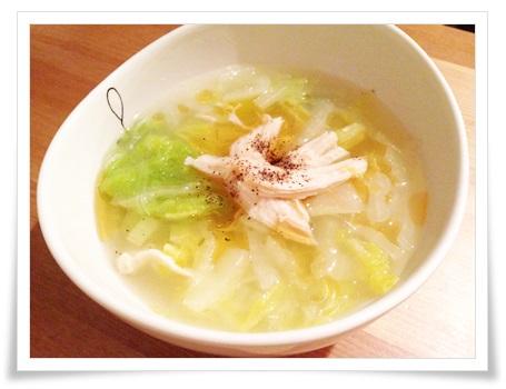 セブンイレブンのサラダチキン(ハーブ)!簡単アレンジレシピで実食 スープ
