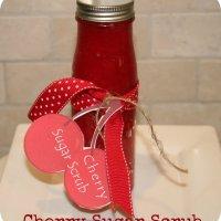 Cherry Sugar Scrub Recipe {homemade gift idea}