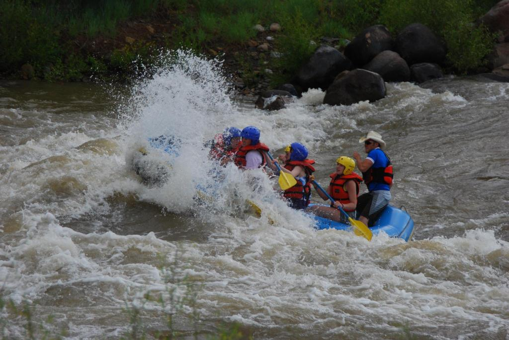 Randy Bister taking on the Animas River in Durango, CO.
