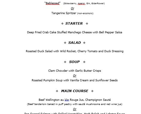 Our New Year\u0027s Eve Dinner menu is out! seven spoons
