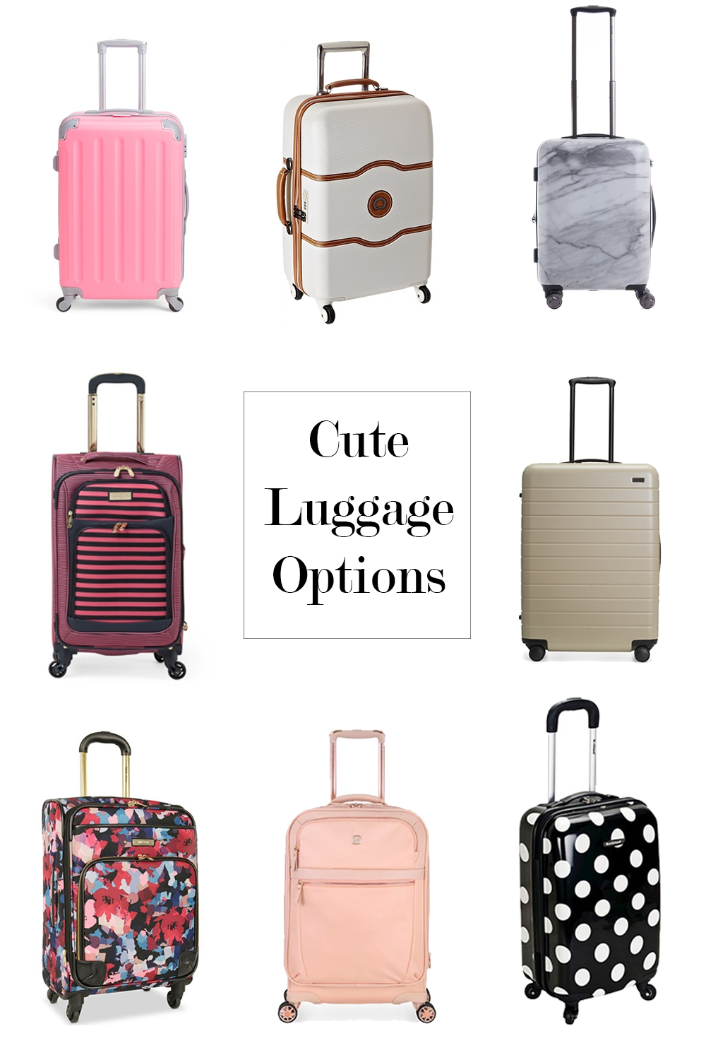 Cute Luggage Options - Seventeen Dresses