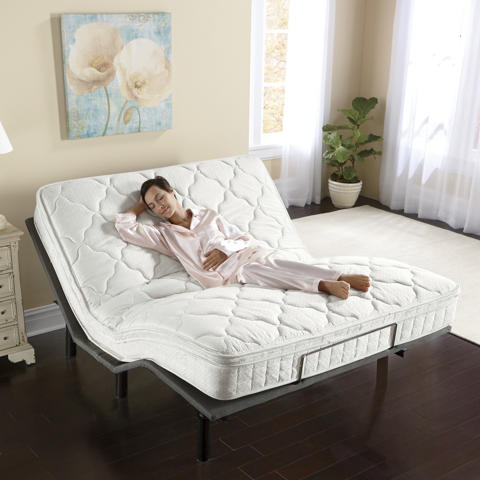 Full Bed Mattress Adjustable Electric Bed Base Seventh Avenue