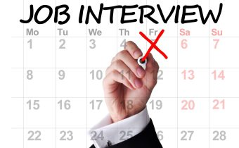 Job interview date highlighted on calendar