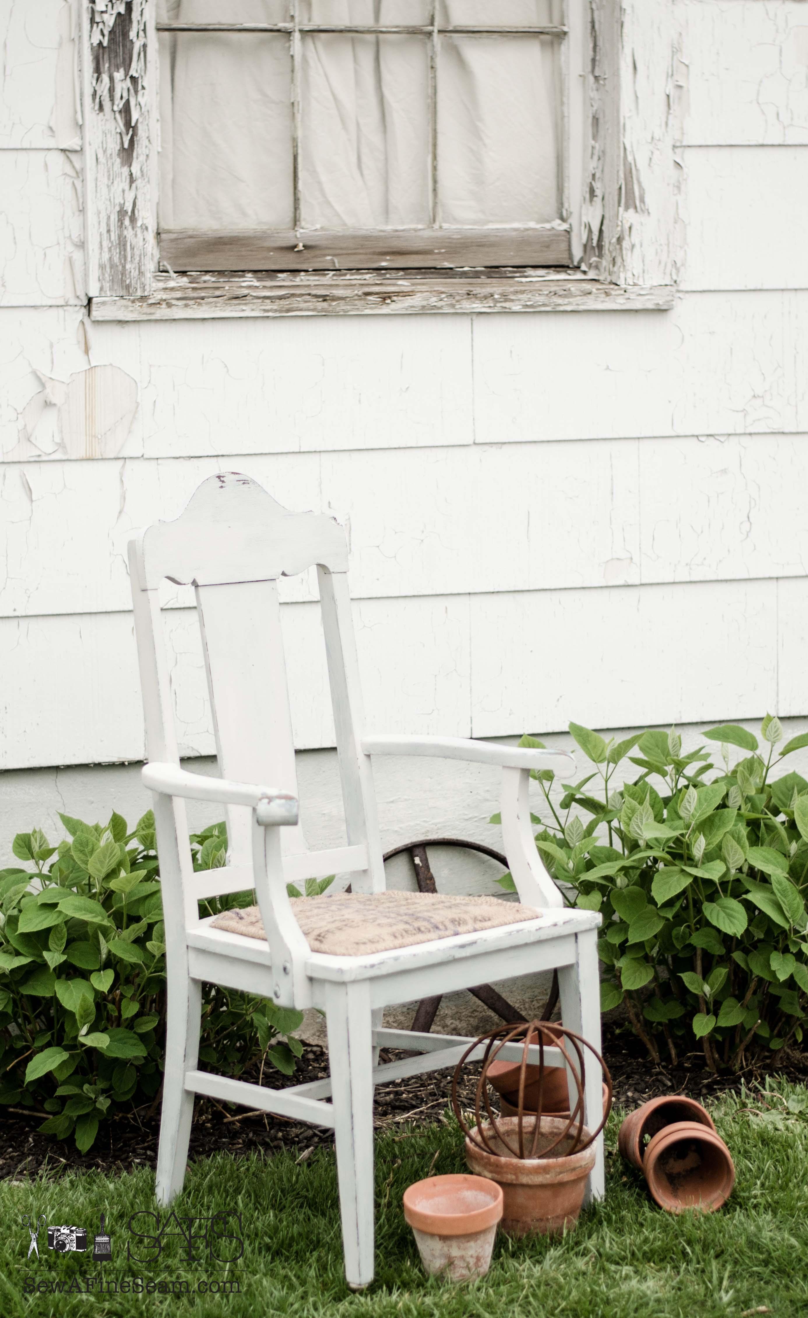 Burlap Dining Chair Cushions