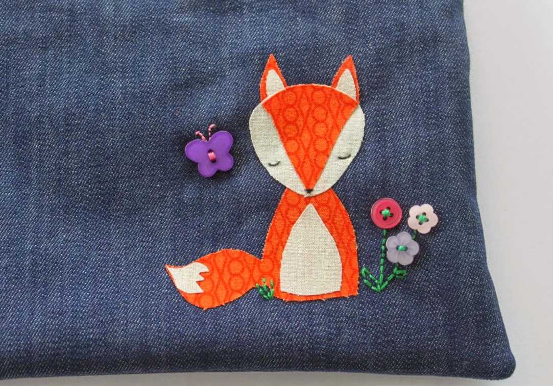 Applique Quiet Fox Applique Pencil Case Sew Delicious