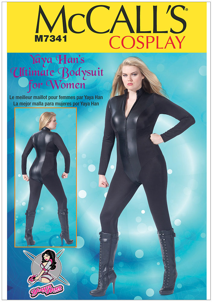 Baby Bags Vogue Womens Zipped Bodysuit By Yaya Han Mccalls Sewing Pattern