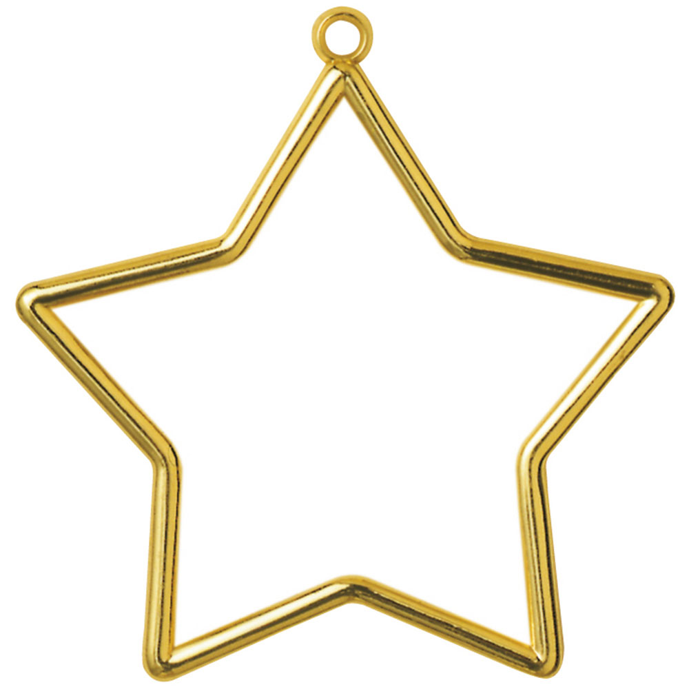 Baby Bags Vogue Vervaco Frame Plastic Star Shaped 9 X 7cm Gold Sew
