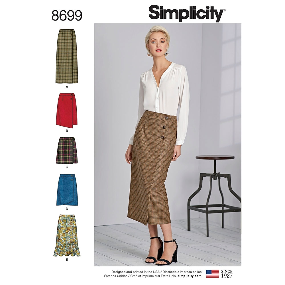 Baby Bags Vogue Misses Wrap Skirts Simplicity Sewing Pattern 8699 Sew