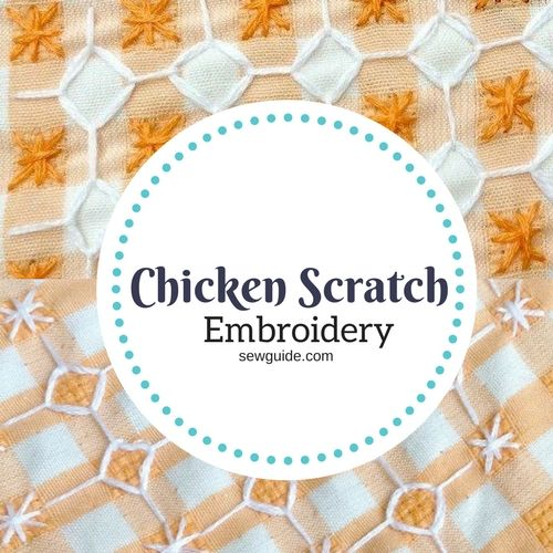 Design your CHICKEN SCRATCH EMBROIDERY Patterns with these 4