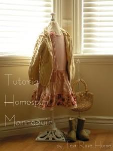 Tutorial Diy Vintage Insipired Child Sized Mannequin Sewing