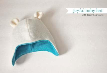 Free Pattern Teddy Bear Baby Hat With Ear Flaps Sewing