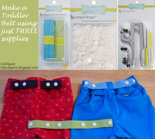 Call Ajaire Toddler Belt Babyville Products to Belt