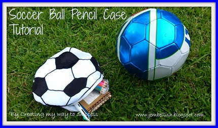 Soccer Ball Pencil Case Tutorial