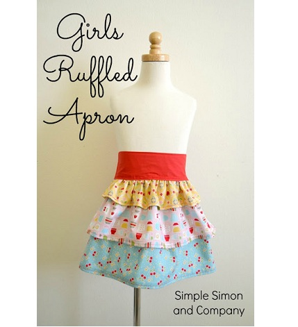 Girls Ruffle Apron with words