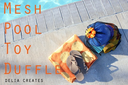 Orange Mesh Pool Toy Bag  title