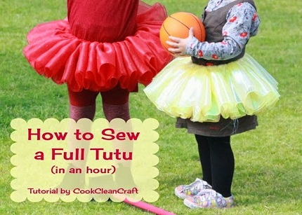 Tutorial: Little girl's ballerina dress-up tutu