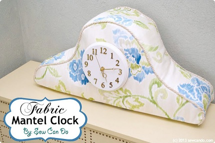 Waverly Fabric Clock Main Sew Can Do