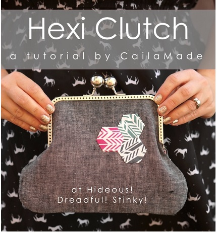 Tutorial: Hexi Clutch frame purse