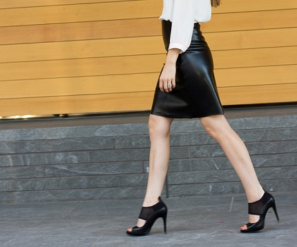 tutorial diy leather a line skirt sewing