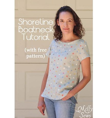 Free pattern: Shoreline Boatneck top, limited time only