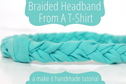 Tutorial: Braided headband from an old t-shirt
