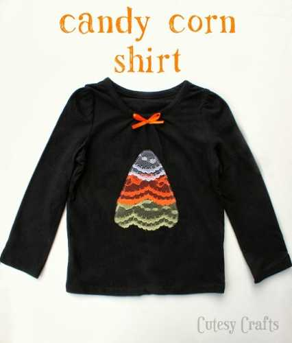 Tutorial: Lace candy corn Halloween applique