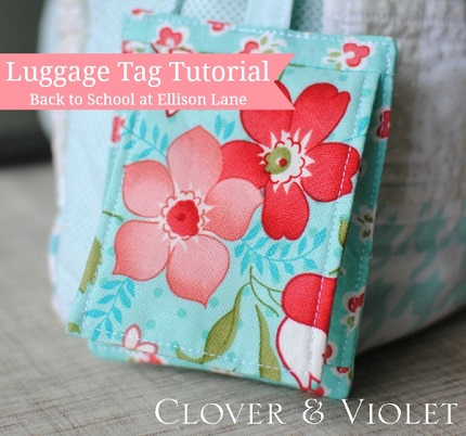 Tutorial: Luggage or backpack tag with privacy flap