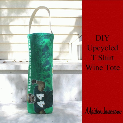Tutorial: Wine tote from an old t-shirt
