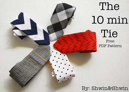 Free pattern: 10-minute tie for boys (or girls)