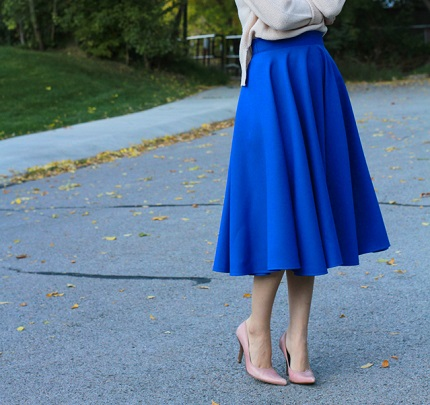 Tutorial: Midi circle skirt
