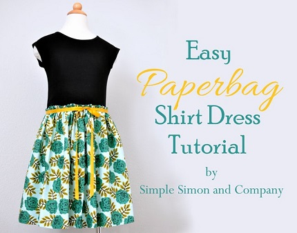 Tutorial: Easy Paperbag Shirt Dress